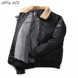 $enCountryForm.capitalKeyWord Canada - 2017 AKing ACE Winter Bomber Army Jackets for Men Thermal Parka Thick Coon Padded Jacket Collar Fleece Coat Male ZA317 45
