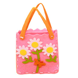 Chinese  Kids Handmade Handbags Cartoon Educational Handwork DIY Sewing Cloth Handcrafts Mini Bag Toys Creative Gifts Random Pattern manufacturers