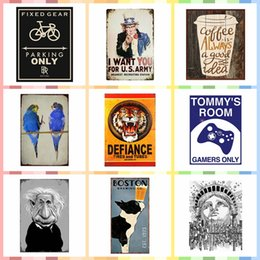 $enCountryForm.capitalKeyWord Australia - Multi Size and Pattern Iron Wall Poster Metal Tin Signs Luxury Home Decor Bedroom Wall Decorations Crafts Art Painting Supplies
