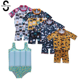 $enCountryForm.capitalKeyWord UK - Dongzhur Summer One Piece Unisex Buoyant Swimwear Baby Bikini Toddler Children Cartoon Biquin Swimsuit Romper Beach Bathing Suit