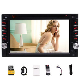 "radio cards Australia - 6.2""touch screen Double Din Car Stereo Built-In Navigation Bluetooth car DVD USB Card 1080P Playing&USB microSD Ports FM AM RDS Radio"