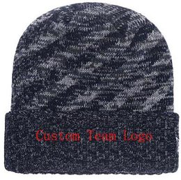 Custom Knit Beanies NZ - 2019 Autumn Winter hat men women Sports Hats Custom Knitted Cap Sideline Cold Weather Knit hat Soft Warm Bears Beanie Skull Cap