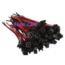 $enCountryForm.capitalKeyWord Australia - Free shipping 2 pin Male female JST SM 2Pin Plug Connector 2pin Wire cable pigtail for single led strip light Lamp Driver CCTV