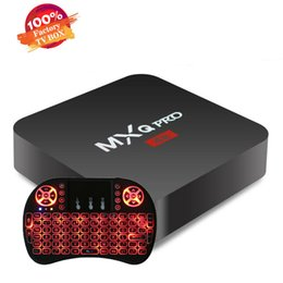 $enCountryForm.capitalKeyWord Australia - MXQ PRO TV Box Amlgoic S905W Android 7.1 TV BOX With Wireless Mouse Key Board Quad Core 4K Media Player OEM ODM Better MX3 MX2