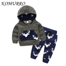 cute boys animal t shirt 2019 - Baby Boy Clothing Set Cute Animal Long Sleeve Hooded T-shirt Tops +Printed Pant 2PCS Outfit Kids Toddler Boys Clothing S