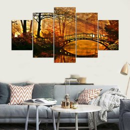 $enCountryForm.capitalKeyWord Canada - Modular Picture Canvas Wall Art 5 Panel Frames HD Print Autumn Scenery Canvas Painting Modern Office Living Room Home Decoration