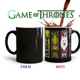 heat change mugs NZ - Game of Thrones Mug Heat Sensitive Color Changing Coffee Tea Mug Ceramic Mug Fashion Cool Coffee Cup Home Supplies