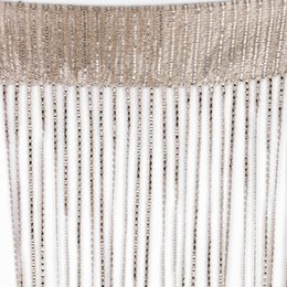 Curtain Valance String 2 X 1 M Crystal Beads Tassel Silk String Curtains  Door Window Panel Sheer Curtains Valance For Living Room