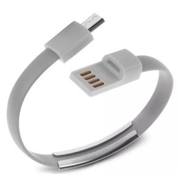Android Noodle Cable NZ - Bracelet Hand Wrist Data Sync Charger Charging USB Cable 20cm Fast Charging Portable Noodle Usb Charger Cable For Micro V8 Android