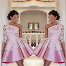 One Sleeve Short Homecoming Dresses