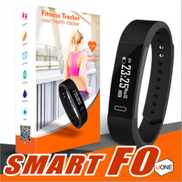 Discount alarm clock ID115 F0 Smart Bracelets Fitness Tracker Step Counter Activity Monitor Band Alarm Clock Vibration Wristband for iphone Android phone