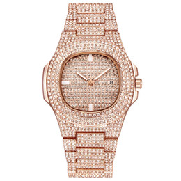 Female Dresses UK - Fashion Silver Luxury Women Dress Watch Rhinestone Ceramic Crystal Quartz Watches Magic Women Wrist Watch Female montre T30