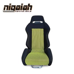 Audi Tt Carbon Fiber NZ - 2PCS LOT OEM SPD Adjustable & Reclinable Seat Red Blue Black Yellow Suede Drift Sport Racing Car Seat