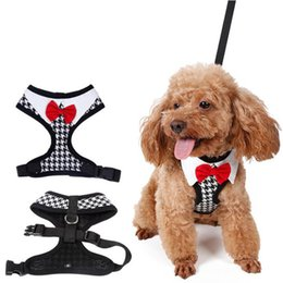 walking harnesses for large dogs NZ - Pet products dog harness collars leash for small breeds dogs accessories Pets Walking Leashes Bow Tie harnes Vest collar Chest