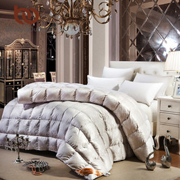 Comforter Silk Lace Canada - Wholesale- BeddingOutlet Princess Duvet Smooth Luxury Bedding Goose Down Quilt Lace Silk Comforter for Bedroom Twin Queen King