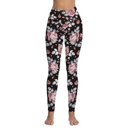 Xl Womens Leggings UK - Womens Floral Printed High Waist Tummy Control Workout Running Stretch Yoga Leggings