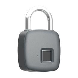 Умный замок сейфа фингерпринта USB зарядка Перезаряжаемый водонепроницаемый дверь замок противоугонной безопасности замок багажа замок