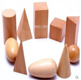 $enCountryForm.capitalKeyWord Australia - 2017 Wooden Geometric Shapes Solids Geometry Blocks Set Learning & Education Cognitive Math Toys 10pcs set