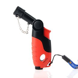 $enCountryForm.capitalKeyWord UK - Rotatable Head Single Torch pipe lighters smoking Jet flame Windproof lighter gas visible window Free shipping