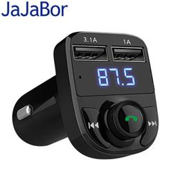 Dual Audio Car Australia - wholesale Bluetooth Car Kit FM Transmitter Handfree Car MP3 Audio Player Voltage Detection Noise Cancellation Dual USB Car Charger