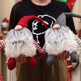 Handmade Christmas Gifts Kids NZ - Handmade Swedish Christmas tomte nisse Santa Claus Decoration Plush Xmas Funny Gnome Plush-Christmas Kids Gift USA Shipping