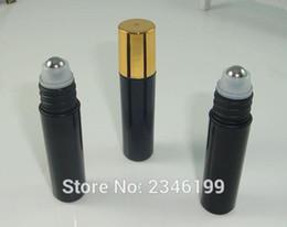 golden bottle cosmetic 2018 - 5ML 5G Roll on Bottle with Golden Cap Glass Bead Metal Steel Bead, Eye Cream Sample Bottle, Cosmetics Packaging,50 Pcs L