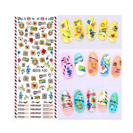 $enCountryForm.capitalKeyWord Australia - 1pcs Stamp Nail Art Decorations Lovely Cartoon Flower Collection Water Transfer Nail Sticker DIY Wrap Decals