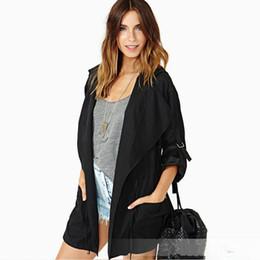 $enCountryForm.capitalKeyWord UK - Women Spring Autumn Stylish Casual Trench Coat 2018 New Designer Office Lady Loose Street Wear Bandage Windbreaker Suit Outwear