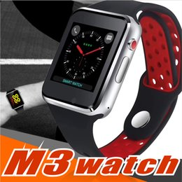 $enCountryForm.capitalKeyWord NZ - For apple M3 goophone smart watch smartwatch 1.54 inch LCD OGS capacitive Touch Screen SIM Card Slot Camera for iphone PK DZ09 iwatch fitbit