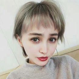 $enCountryForm.capitalKeyWord NZ - Japanese Comic Cosplay Short Straight Hair White Men And Women General Purpose Colour Wig Generation Hairby haif