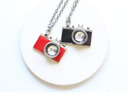 $enCountryForm.capitalKeyWord UK - Vintage Silver Enamel camera Pendant Necklaces Charms Statement Choker Necklace Women Fashion Jewelry Christmas Accessories Gifts NEW