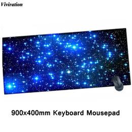Pad Locks NZ - 2018 The Most Popular Fashion Anti-slip Desk Mat XL Keyboard Pad 900x400mm Large Gaming Mouse Pad Viviration Lock Edge Mousepad