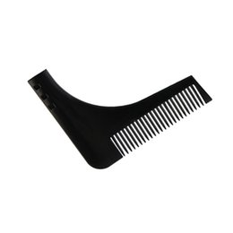 Chinese  Durable Plastic Men Beard Trimmer Comb 2 Colors Gentleman Beard Shaving Molding Combs Template Trimming ShapingTools Easy To Use manufacturers
