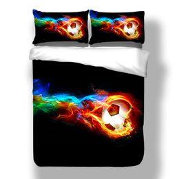 $enCountryForm.capitalKeyWord NZ - wholesale High quality Football Bedding Sets 3pcs 3D Duvet Cover Bed Sheet Pillow Cases Size EU CN US Queen King Blue Home Textile