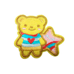 Embroidered cloth patch cartoon bear appliques Back gum Ironing sewing  decorative patch kids T-shirt jeans clothing accessories DL CPIA030 3acf6e8ad66a