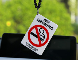 Smoking SignS online shopping - Car Pendant Acrylic NO SMOKING Warning Sign Creative Fashion Auto Interior Rearview Mirror JDM Decoration Ornament Accessories