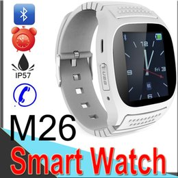 bluetooth wrist alarm 2019 - M26 Smart Watches Wireless Bluetooth Smart Bracelet Phone Camera Remote Control Anti-lost alarm Barometer for IOS Androi