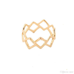 $enCountryForm.capitalKeyWord Australia - Full Mid Finger Rings Women Knuckle Long Fashion Jewelry Unisex Ring Hollow prismatic grid ring For Ladies Best Gift jl-422