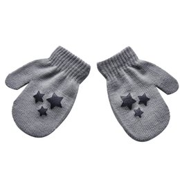$enCountryForm.capitalKeyWord Canada - Baby Kids Five-pointed star Pattern Gloves Boys Girls Winter Warm Knitted Mittens gray Free Shipping
