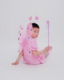 Butterfly costume child online shopping - 2017 New style children Cosplay White and powdered butterflies Animal perform clothing Boys and girls Dance Conjoined clothes
