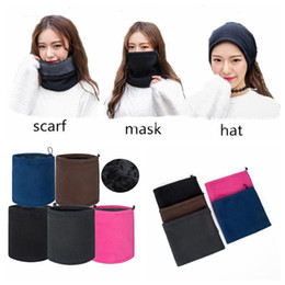 Hat scarf ski mask online shopping - Warm Winter Mask Windproof Thermal Fleece Balaclava Hat Hood Ski Cap Sports Face Mask Cycling Neck Hiking Scarf Party Favor CCA10318