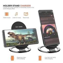 Venta al por mayor de Cargador inalámbrico para Iphone X 8 8 Plus Pad de carga rápida Mini Cargador inalámbrico ultra delgado para Samsung S8 S8Plus con caja al por menor