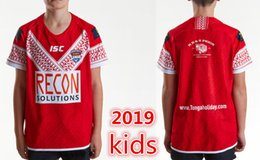 youth jerseys sale 2019 - Hot sales Best Quality Tonga kids 2019 Youth Home Rugby League Shirt TONGA NATIONL LEAGUE jersey PACIFIC TEST Rugby jers