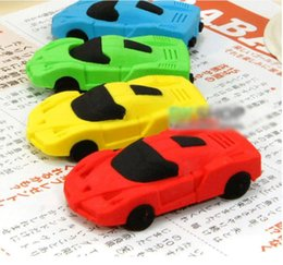 cars pencil eraser UK - Creative Car Cartoon Eraser Cute Student School Supplies Erasers Novelty Children Gift Stationery Random Color 1 PCS