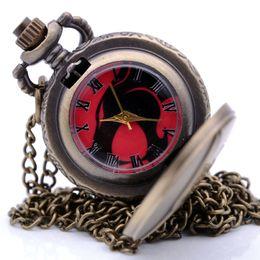 $enCountryForm.capitalKeyWord NZ - New Fashion Bronze Small Sci-Fi Movie Color Quartz Pocket Watch Analog Pendant Necklace Men Women Watch Chain Gift Reloj Montre