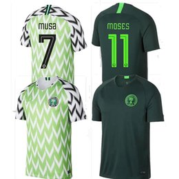 High Thai quality World Cup Jersey Men 2018 Nigeria Home Away Soccer  Jerseys IWOBI IHEANACHO Mikel Moses OBI Football Shirt Custom f14c90a81