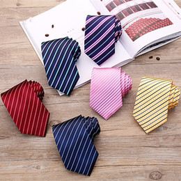 Formal Fashion Clothes For Men Canada - 2018 New Accessories Ties For Men Striped Pattern Men Business Tie Social Wedding Party Formal Tie Men's Clothing Accessories