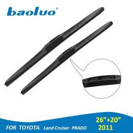 "China BAOLUO 26""+20"" Windshield Wiper Blades For Toyota Land Cruiser Prado (2011) Windscreen Windshield Rubber Car Auto Accessories suppliers"