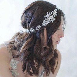 $enCountryForm.capitalKeyWord NZ - Bride's styling silver water drill pearl bride's hair belt