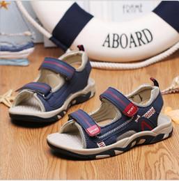 Discount open baby sandals - 2018 summer new children's sandals boys boys beach shoes non-slip baby big children open toe sports sandals